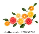 Citrus Fruits Isolated On Whit...