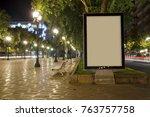 blank advertisement mock up in... | Shutterstock . vector #763757758