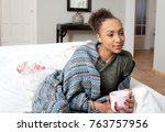 beautiful african american... | Shutterstock . vector #763757956
