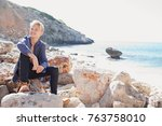 beautiful teenager young man... | Shutterstock . vector #763758010