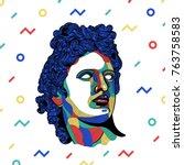 creative modern classical... | Shutterstock .eps vector #763758583