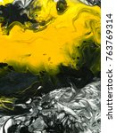 black and yellow marble... | Shutterstock . vector #763769314