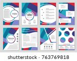 abstract vector layout... | Shutterstock .eps vector #763769818
