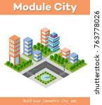 urban isometric area of the... | Shutterstock .eps vector #763778026