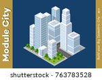 set of urban areas of modules... | Shutterstock .eps vector #763783528