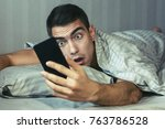 young frustrated and stressed... | Shutterstock . vector #763786528