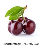 sweet cherry in closeup | Shutterstock . vector #763787260