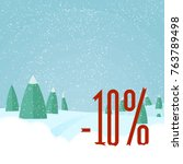 winter sale   beautiful forest  ... | Shutterstock .eps vector #763789498