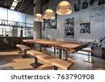 industrial loft bar style | Shutterstock . vector #763790908