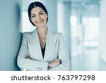 closeup portrait of smiling...   Shutterstock . vector #763797298