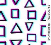 seamless decorative pattern... | Shutterstock .eps vector #763800769