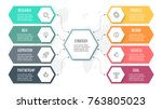 business infographics.... | Shutterstock .eps vector #763805023
