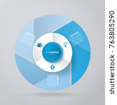 vector circle for infographic... | Shutterstock .eps vector #763805290