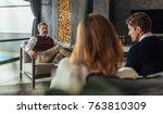 psychologist listening to... | Shutterstock . vector #763810309