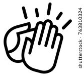 clapping hands icon | Shutterstock .eps vector #763810324