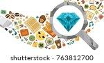 vector illustration of gem...   Shutterstock .eps vector #763812700