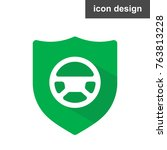 safe driving icon | Shutterstock .eps vector #763813228