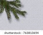 christmas  new year. realistic... | Shutterstock .eps vector #763813654