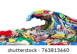 clothing in the shape of a wave ... | Shutterstock . vector #763813660