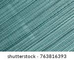 cyan toned straw mat surface.... | Shutterstock . vector #763816393