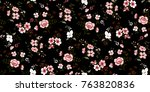 seamless floral pattern in... | Shutterstock .eps vector #763820836