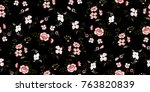 seamless floral pattern in... | Shutterstock .eps vector #763820839