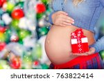 closeup photo of a belly of... | Shutterstock . vector #763822414