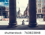 view of glasgow from gallery of ... | Shutterstock . vector #763823848