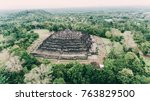 barabudur largest buddhist...   Shutterstock . vector #763829500