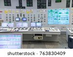 the central control room of... | Shutterstock . vector #763830409