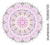 mandala vector design element.... | Shutterstock .eps vector #763836733