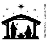 Nativity Scene Silhouette....