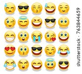 emoji people expression art... | Shutterstock .eps vector #763844659
