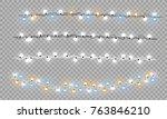 christmas lights isolated... | Shutterstock .eps vector #763846210