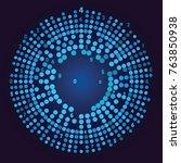 big data visualization. social... | Shutterstock .eps vector #763850938