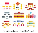 flowchart flat schemes and... | Shutterstock .eps vector #763851763
