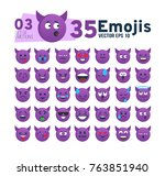 abstract set 03 of funny flat... | Shutterstock .eps vector #763851940