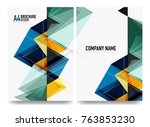 business brochure cover layout  ... | Shutterstock .eps vector #763853230