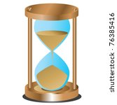 abstract hourglass on white... | Shutterstock .eps vector #76385416