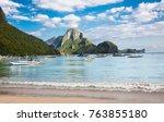 el nido  philippines   march 29 ... | Shutterstock . vector #763855180