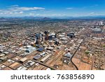wide angle aerial view of... | Shutterstock . vector #763856890
