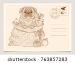 dog is the symbol of the...   Shutterstock .eps vector #763857283