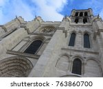 an amazing view of the basilica ... | Shutterstock . vector #763860700