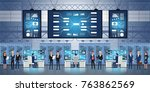professional it engineers... | Shutterstock .eps vector #763862569