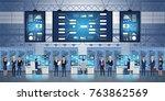 professional it engineers... | Shutterstock .eps vector #763862569