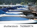 low telephoto view on the bows... | Shutterstock . vector #763868974
