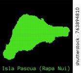 vector isla pascua  rapa nui ... | Shutterstock .eps vector #763894810