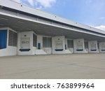 a loading dock or loading bay... | Shutterstock . vector #763899964