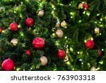 christmas decoration as a... | Shutterstock . vector #763903318