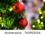 christmas decoration as a... | Shutterstock . vector #763903324
